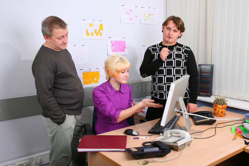 Empregados do escritório foto de stock