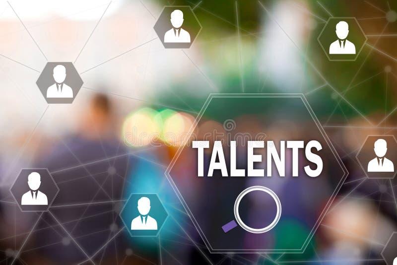 Empregados talentosos da busca Recursos humanos no fundo do borrão Conceito da busca para empregados talentosos, programadores imagens de stock royalty free