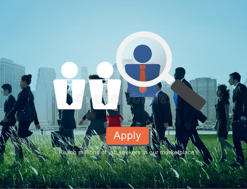 Emprego de aluguer Job Seekers Concept do recrutamento ilustração stock