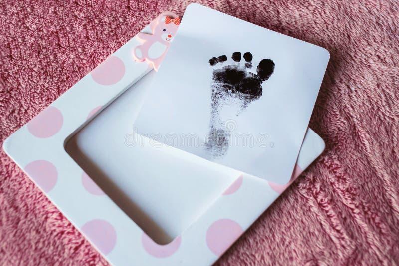 Empreinte de pas de bébé photographie stock