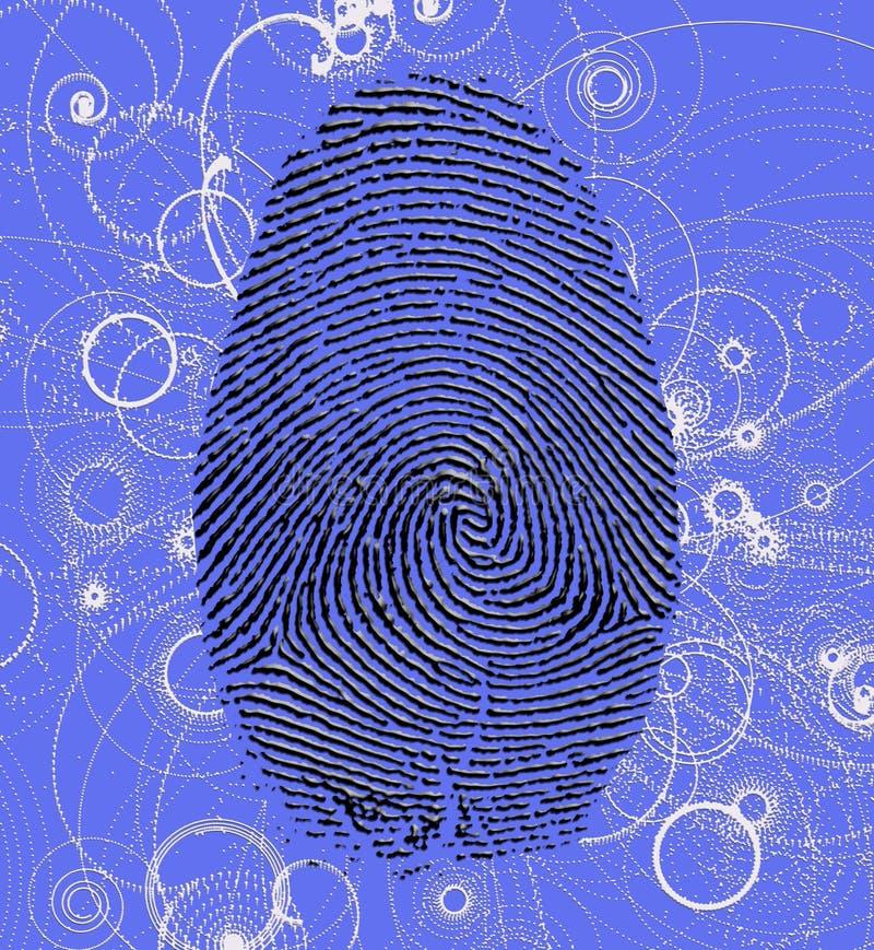 Empreinte digitale atomique illustration libre de droits