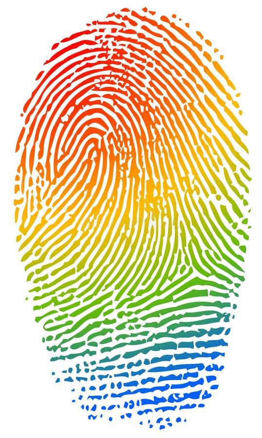 Empreinte digitale de couleur illustration libre de droits