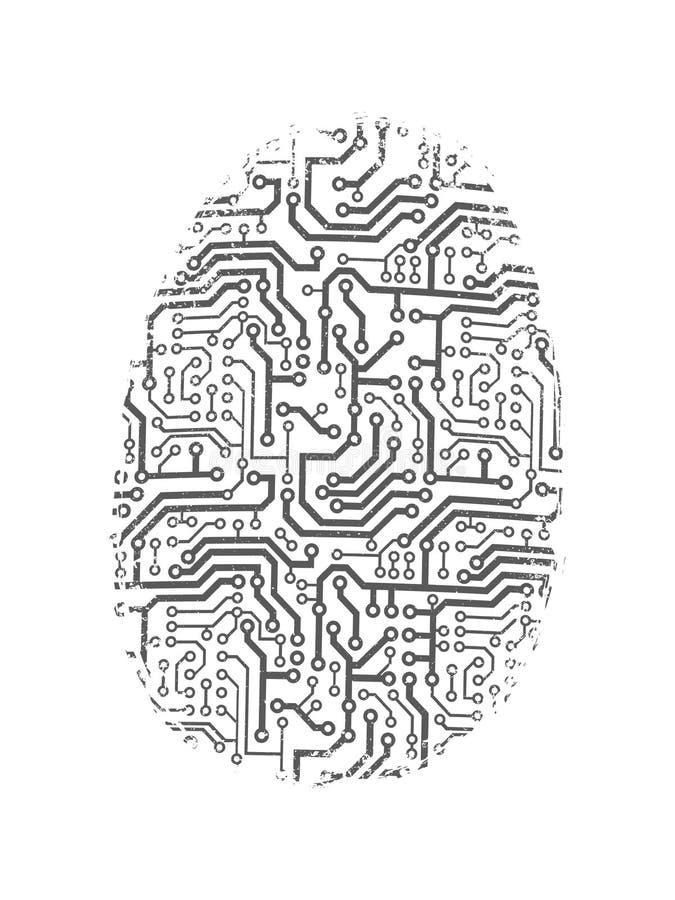 Empreinte digitale de Digital illustration de vecteur