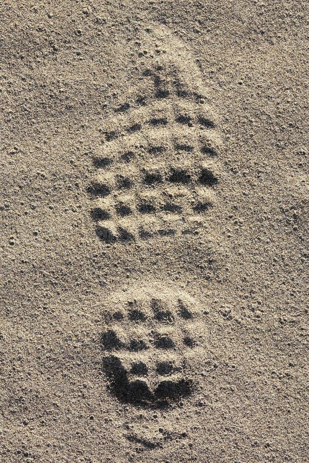 Empreinte du pied photo libre de droits