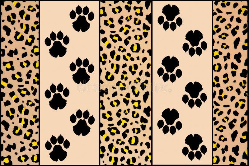 Empreintes de pas de léopard illustration de vecteur
