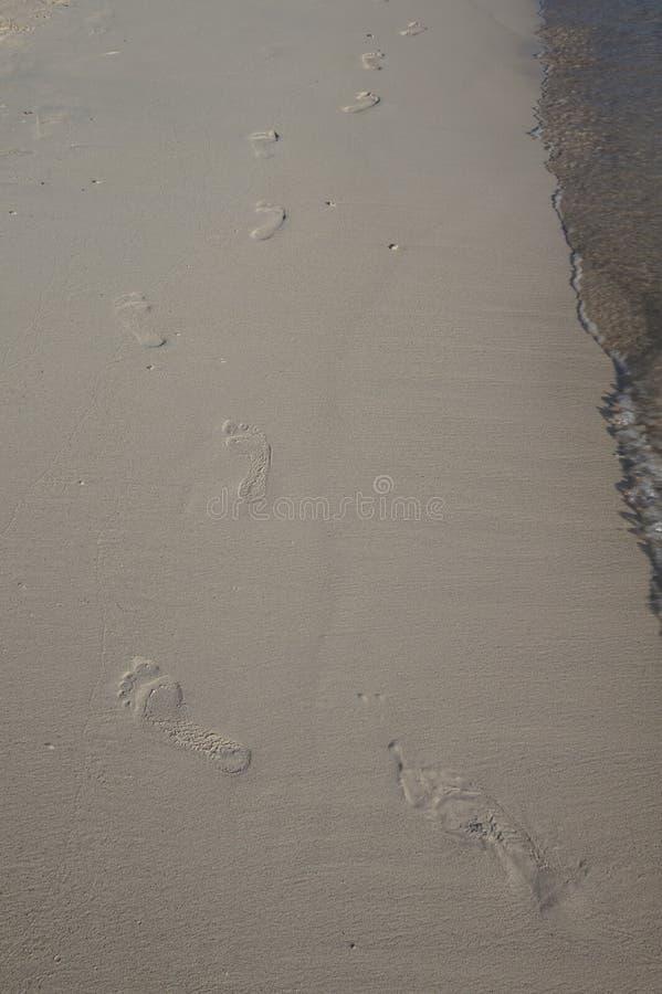 Empreintes de pas sur le sable photographie stock libre de droits