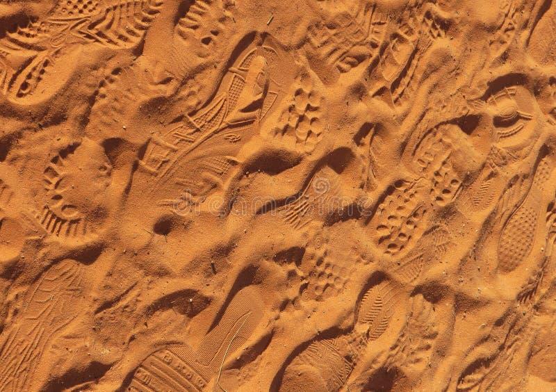 Empreintes de pied - fond photo libre de droits