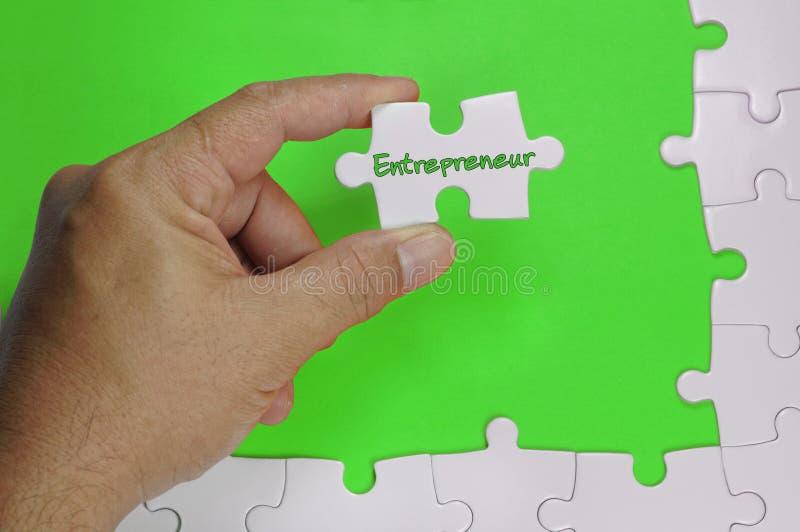 Empresário Text - conceito do negócio imagem de stock royalty free