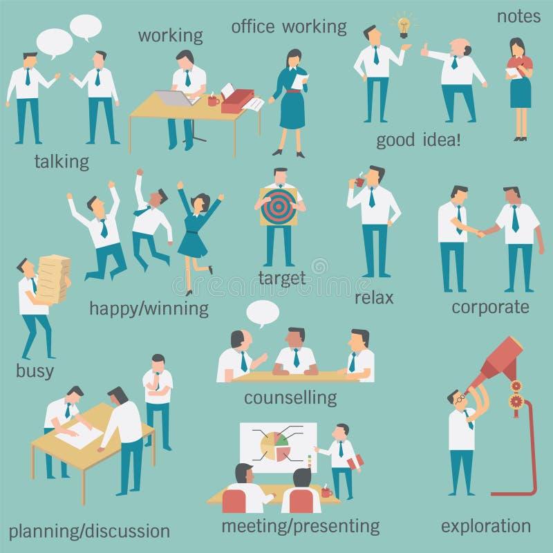 Empresários ajustados ilustração do vetor