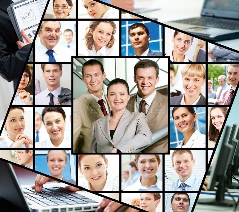 Empresários diferentes fotografia de stock