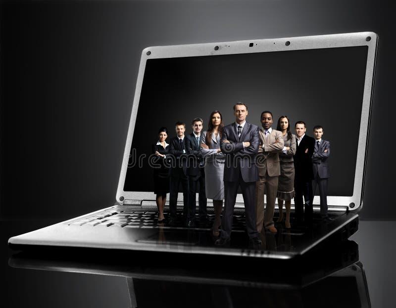 Empresários dos homens de negócios do homem de negócios dos negócio-trabalhos de equipa do negócio do fundo fotografia de stock