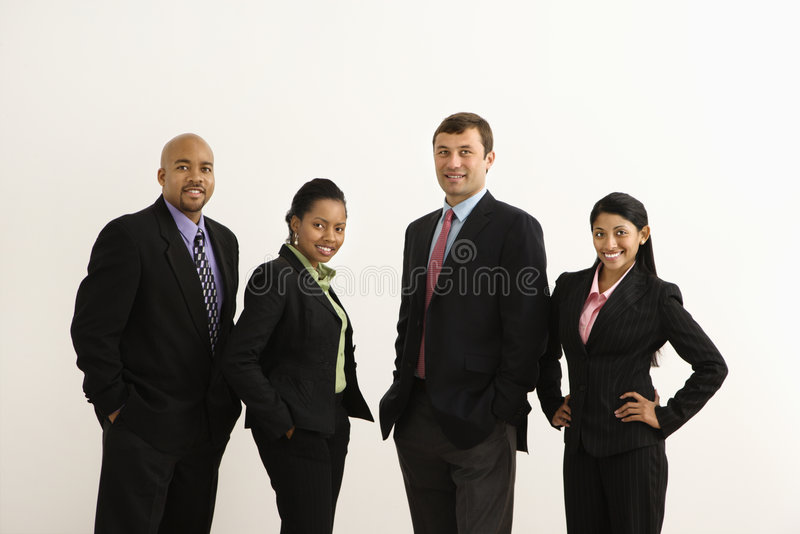 Empresários felizes. imagens de stock