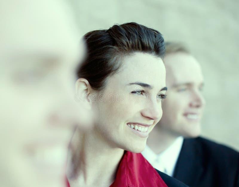Empresários felizes foto de stock