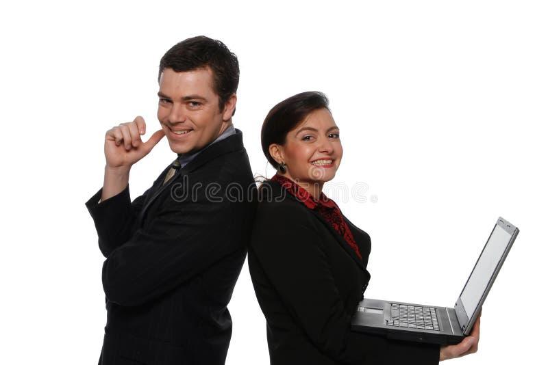 Empresários masculinos e fêmeas imagens de stock
