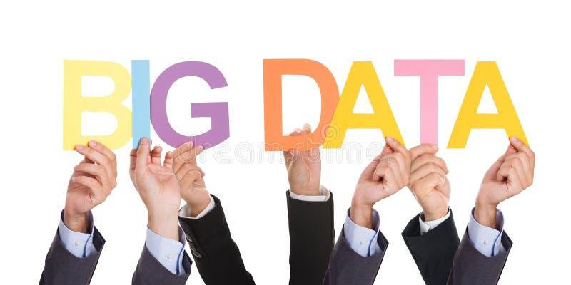 Empresários que mostram o conceito grande dos dados imagem de stock royalty free