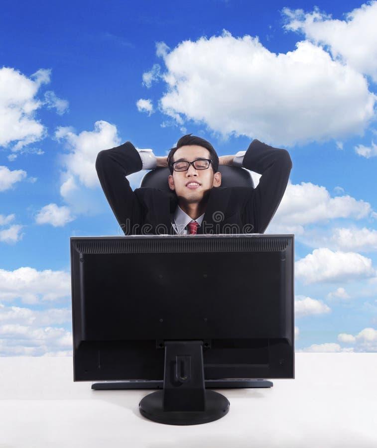 Empresários que relaxam imagens de stock royalty free