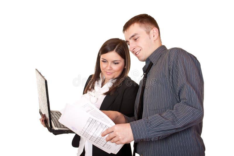 Empresários que trabalham junto fotos de stock royalty free