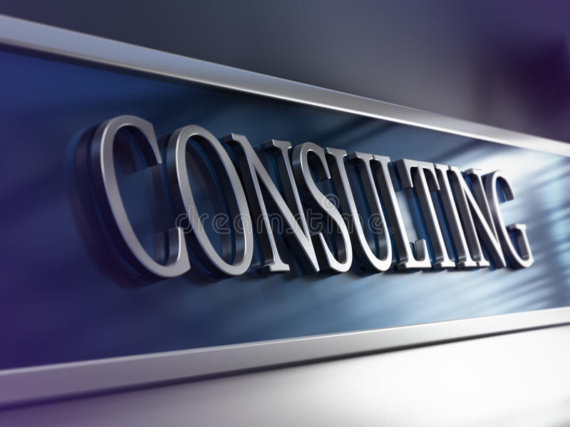 Empresa consultora, compañía de consulta stock de ilustración