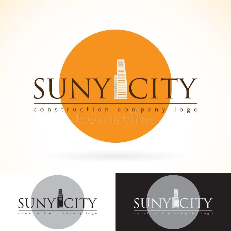 Empresa da construção do desenvolvimento da construção, zombaria do projeto do logotipo do vetor acima do grupo do molde ícone ab ilustração do vetor