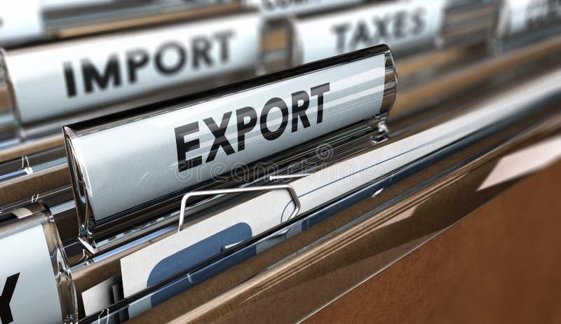 Empresa da exportação da importação ilustração royalty free