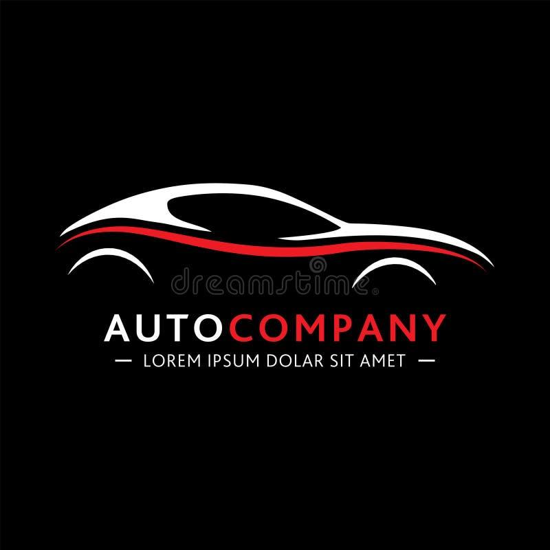 Empresa de automóviles Logo Design Vector y ejemplo fotografía de archivo