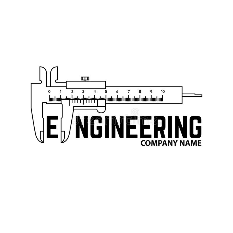 Empresa de engenharia Logo Template ilustração do vetor