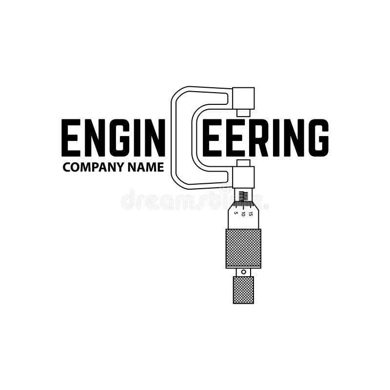 Empresa de engenharia Logo Template ilustração royalty free