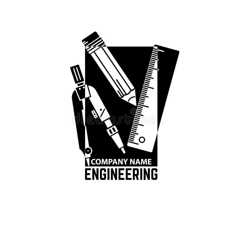 Empresa de engenharia Logo Template ilustração stock