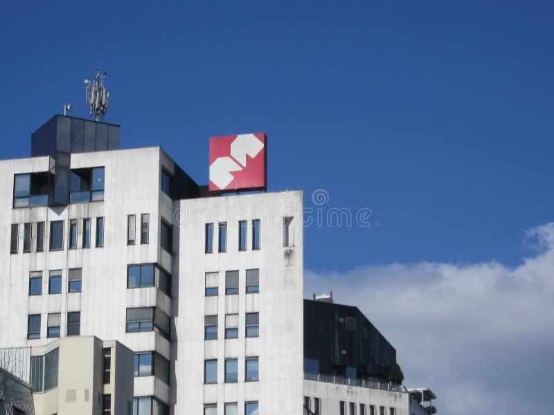 Empresa de Merkator en Eslovenia Ljubljana fotografía de archivo libre de regalías
