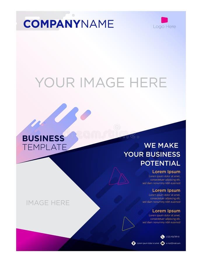 Empresa de negocios del aviador del folleto y corporativo libre illustration