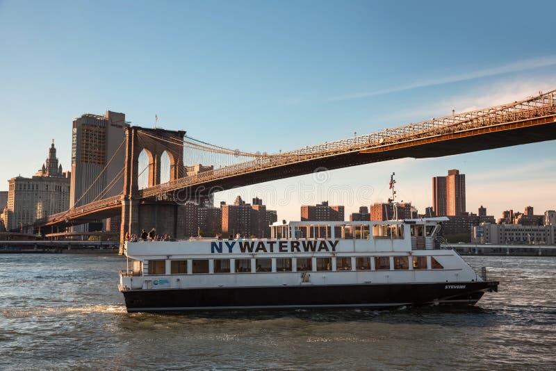 Empresa de transporte da via navegável de NY fotos de stock royalty free