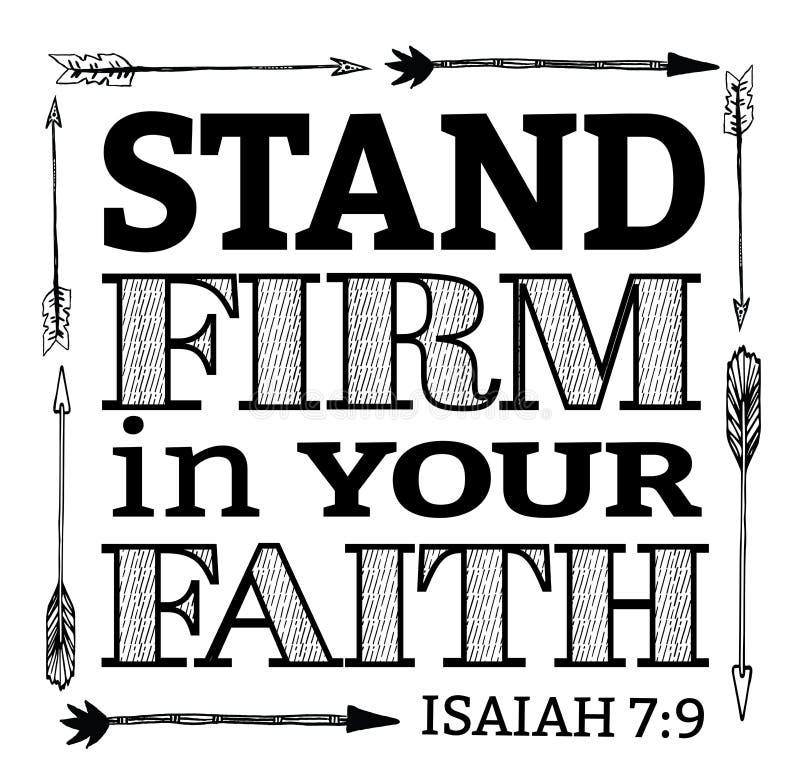 Empresa del soporte en su fe libre illustration