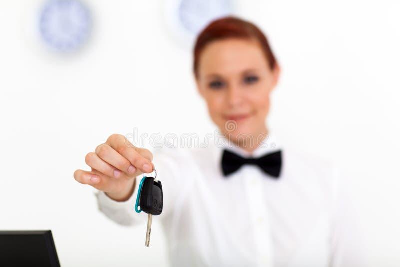 Empresa do aluguer de carros imagens de stock