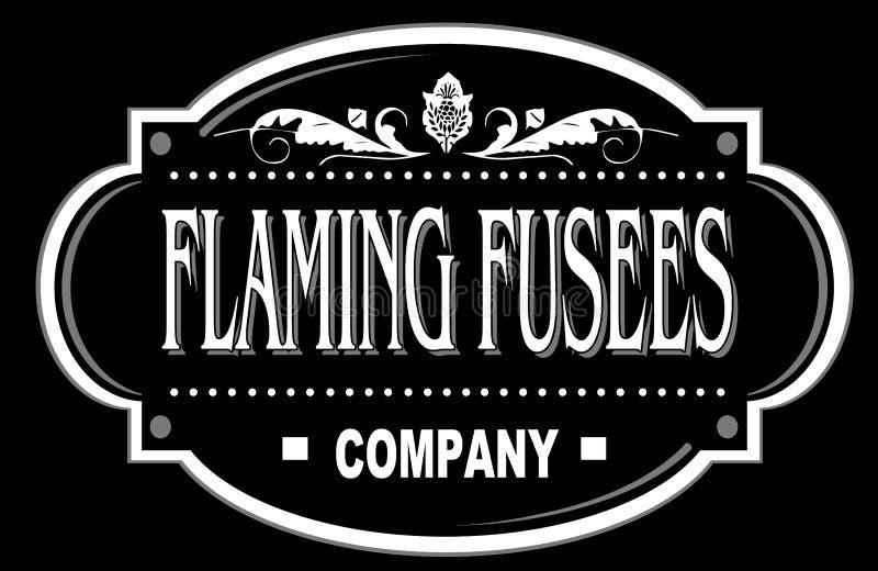 Empresa do logotipo ilustração stock