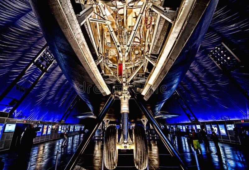 Empresa do vaivém espacial no museu intrépido do mar, do ar & de espaço fotos de stock royalty free