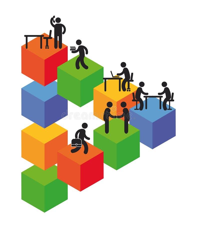 Empresa na elevação ilustração do vetor