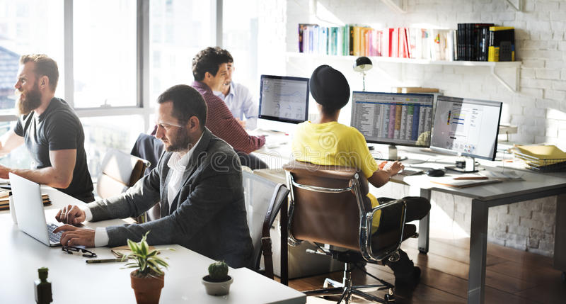 Empresa Team Working Busy Concept foto de stock royalty free