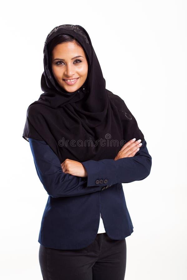 Empresaria árabe moderna imagenes de archivo