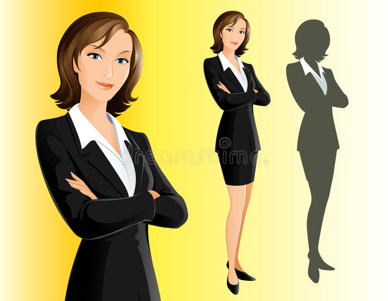 Empresaria stock de ilustración