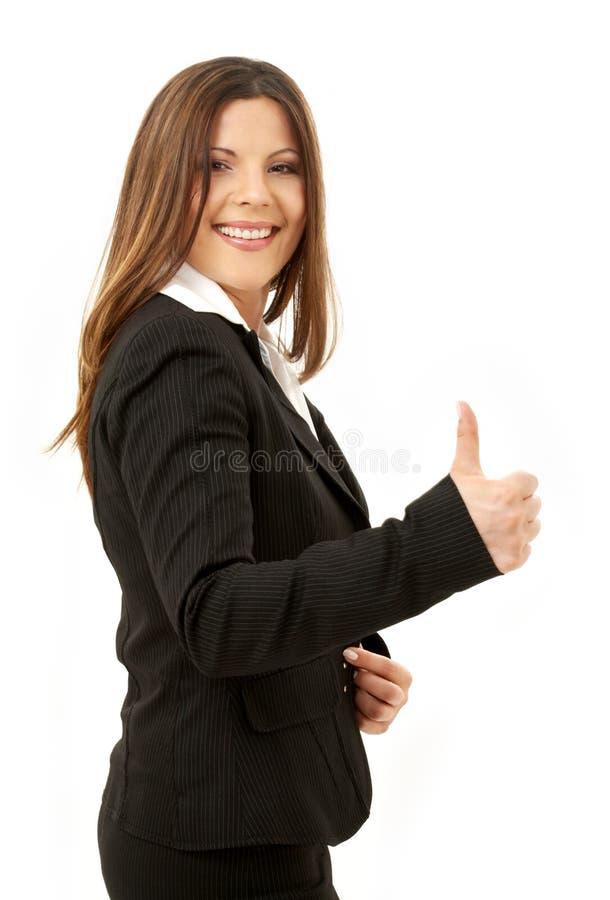 Empresaria acertada feliz imagen de archivo libre de regalías