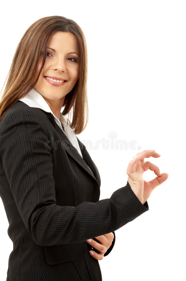 Empresaria acertada feliz foto de archivo libre de regalías
