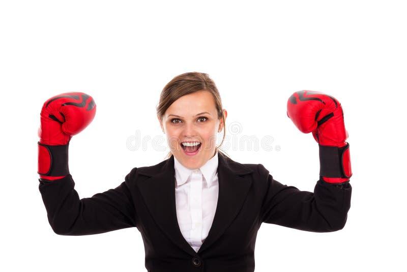 Download Empresaria Acertada Que Celebra Guantes De Boxeo Que Llevan Foto de archivo - Imagen de celebración, adulto: 41920140