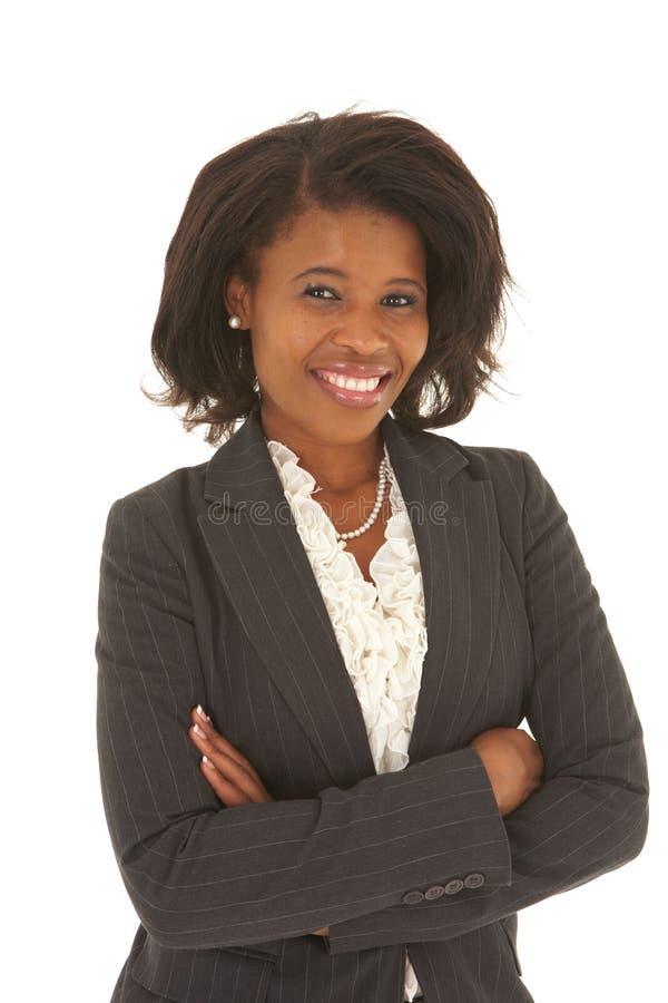 Empresaria africana hermosa foto de archivo