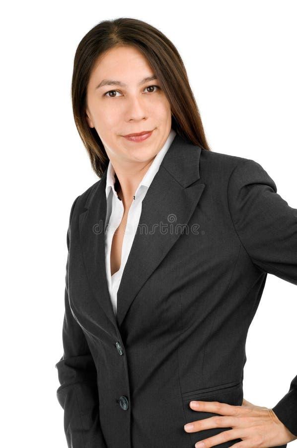 Empresaria atractiva imagen de archivo