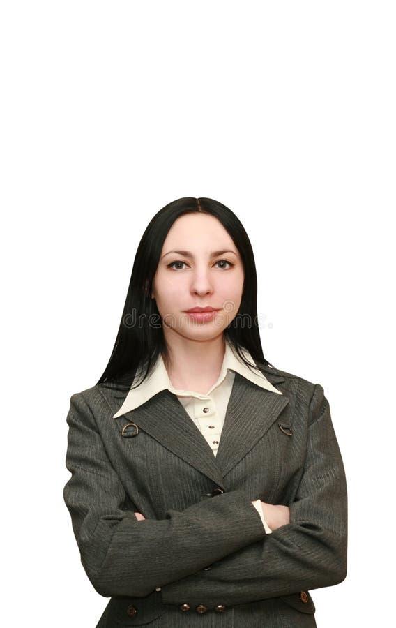 Empresaria atractiva fotografía de archivo libre de regalías