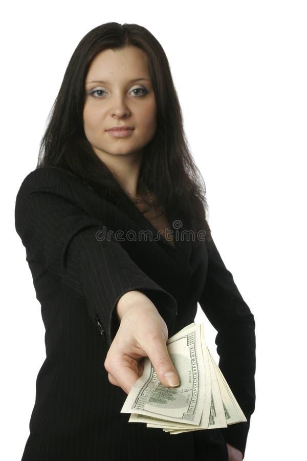 Empresaria con el dinero 3 fotografía de archivo