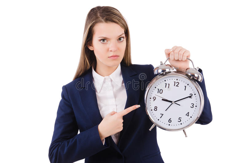 Download Empresaria De La Mujer Aislada Foto de archivo - Imagen de oficina, overtime: 41915928