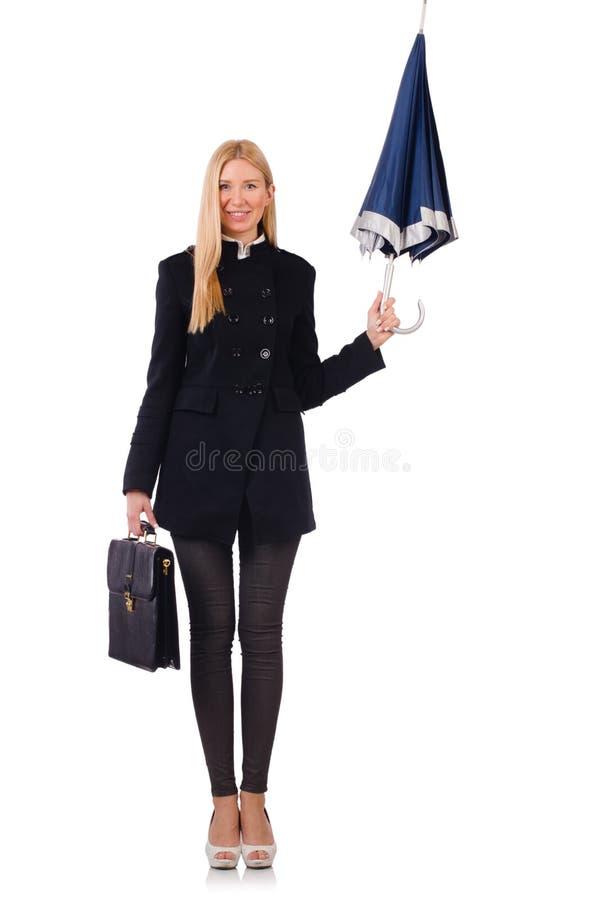 Download Empresaria De La Mujer Aislada Foto de archivo - Imagen de sombrero, abrigo: 41916586