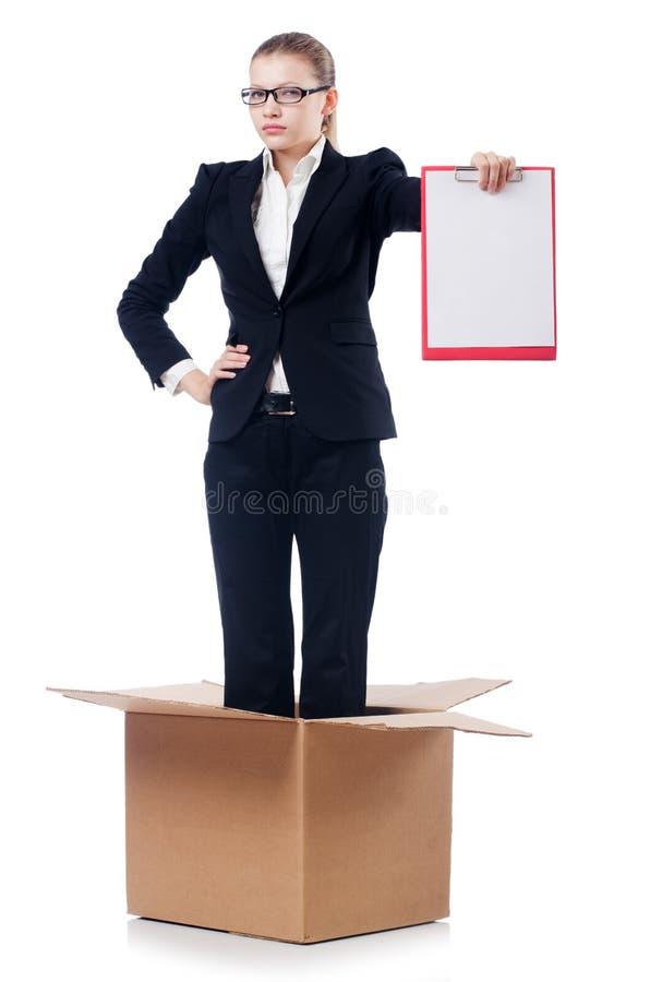 Download Empresaria De La Mujer Aislada Imagen de archivo - Imagen de carga, rectángulo: 41917445