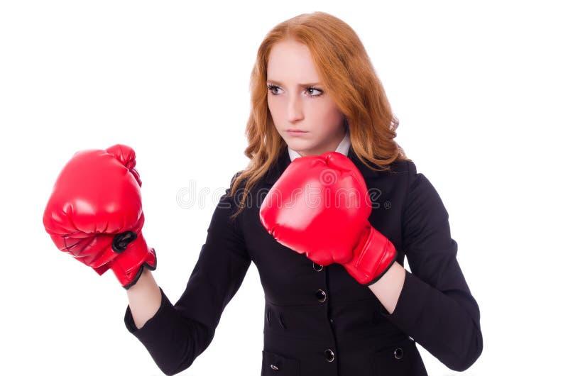 Download Empresaria De La Mujer Con Los Guantes De Boxeo Imagen de archivo - Imagen de ejecutivo, caucásico: 41917785